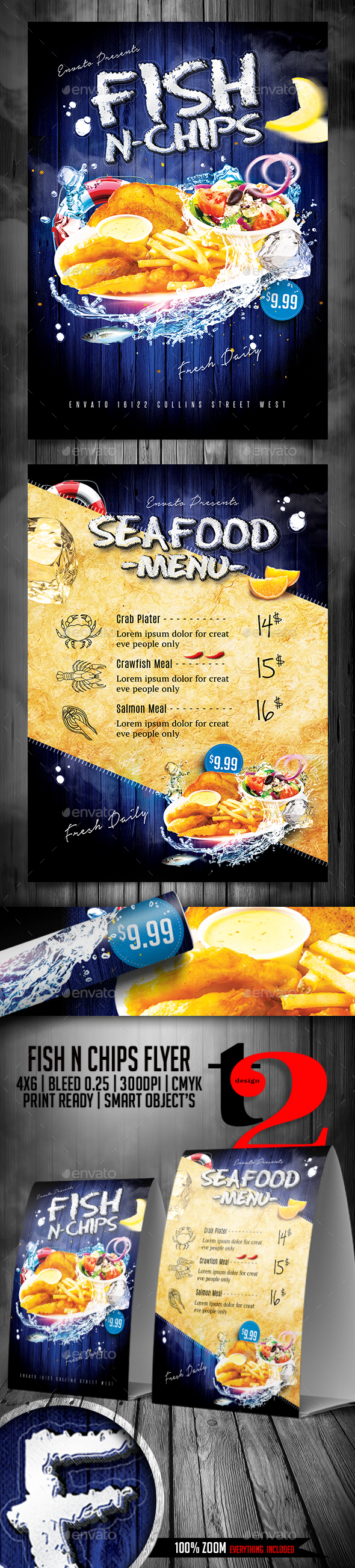 Fish N Chips Flyer Template