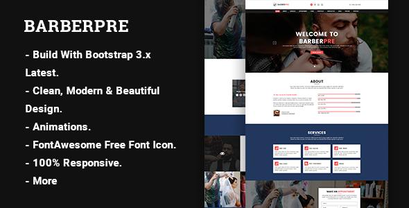 BarberPre – Template HTML