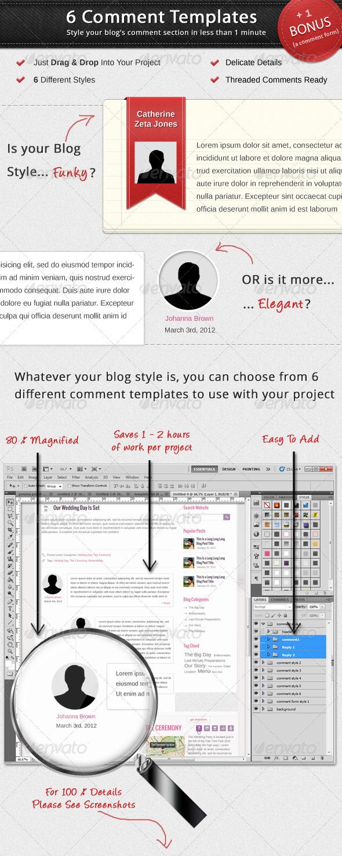 6 Comment Templates - Miscellaneous Web Elements