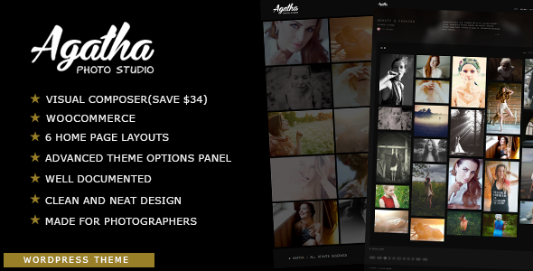 Agatha - Photography Portfolio WordPress Theme