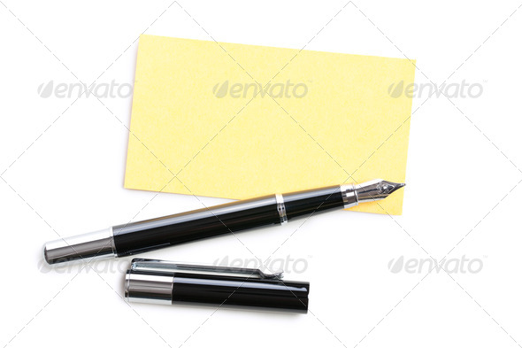 business card and pen - Stock Photo - Images