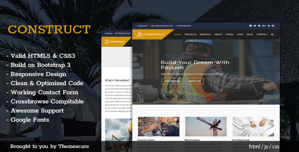 Construct – Construction & Building HTML5 Template