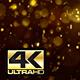 Abstract Dark Gold Digital Bokeh Rain Background 4K - VideoHive Item for Sale