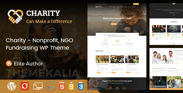 Image of Charity - Nonprofit / Charity / Fundraising WordPress Theme