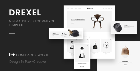 Drexel - PSD Ecommerce Templates - Retail PSD Templates