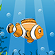 Illustration of Underwater Landscape with Clownfish - GraphicRiver Item for Sale