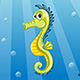 Illustration of Underwater Landscape with Seahorse - GraphicRiver Item for Sale