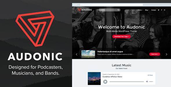 Audonic - Music & Podcasting WordPress Theme - Music and Bands Entertainment