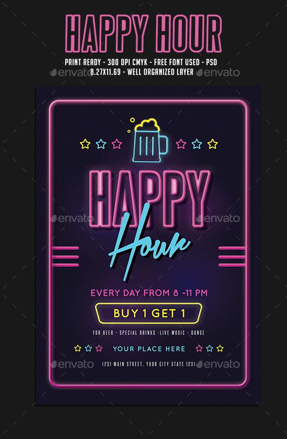 Happy Hour Beer Event - Events Flyers