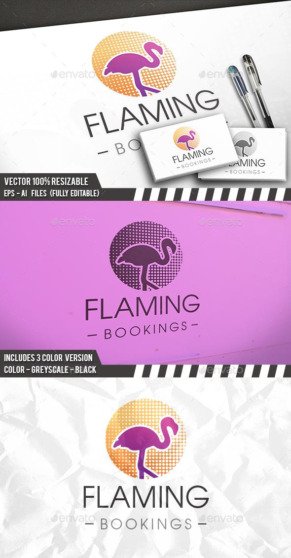 Flamingo Dots Logo - Company Logo Templates