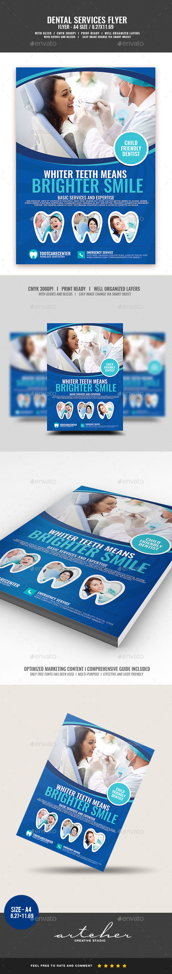 Dental and Dentistry Services - Corporate Flyers