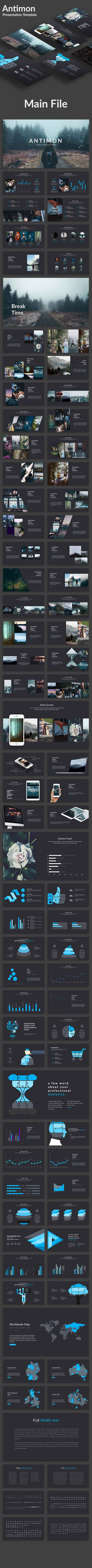 Antimon Creative Google Slide Template - Google Slides Presentation Templates