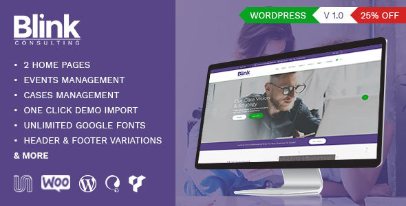Blink – Accounts & Consultancy Business WordPress Theme