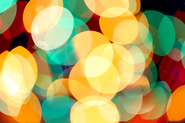 multicolored holiday bokeh - Stock Photo - Images