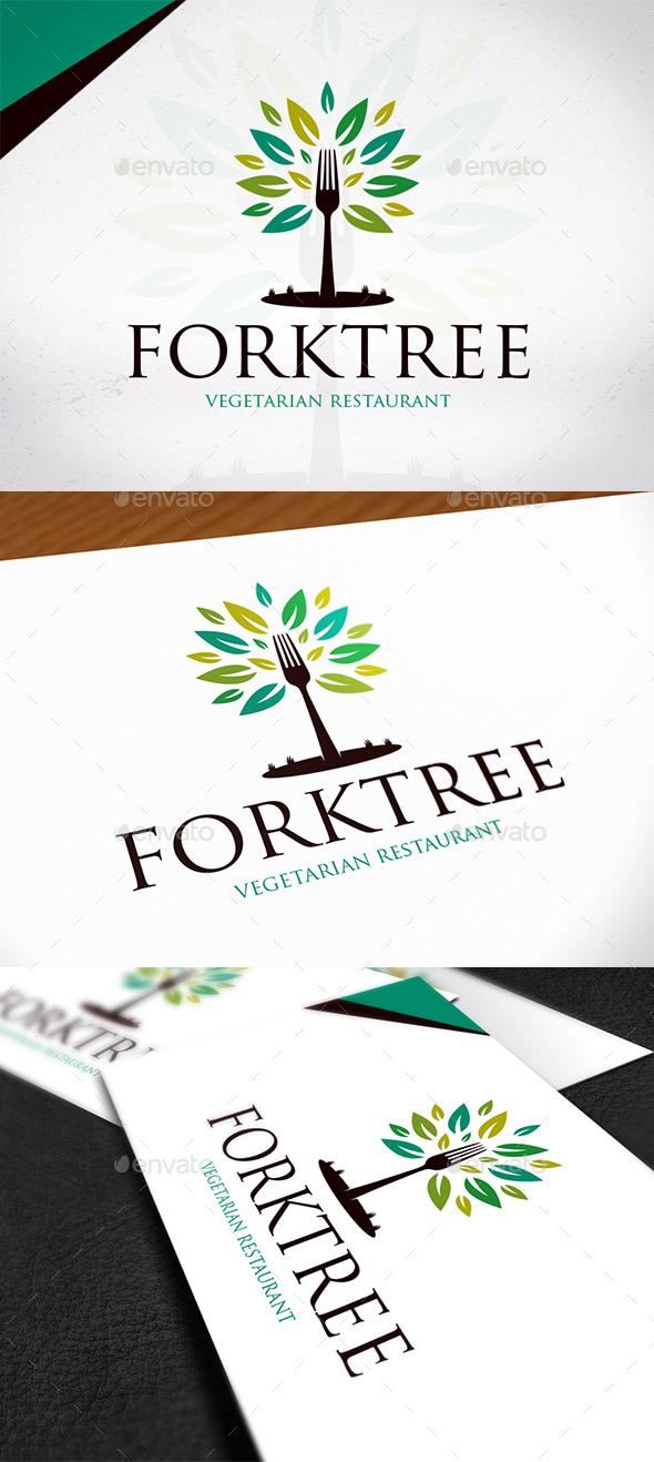 Fork Tree Logo Design - Restaurant Logo Templates