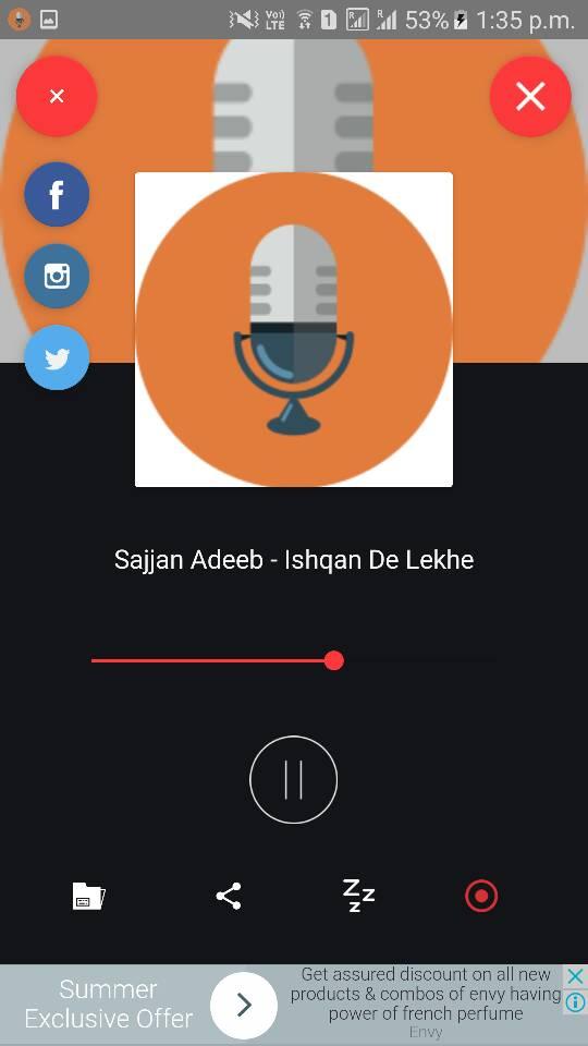 Single Station Radio app with Recording