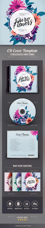 Pure Flowers CD Cover Artwork - CD & DVD Artwork Print Templates