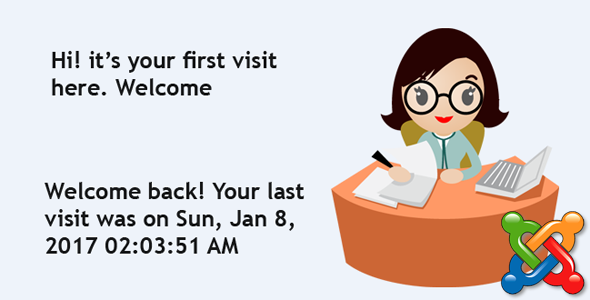 """Your last visit was on ..."" - by Receptionist Extension for Joomla - CodeCanyon Item for Sale"