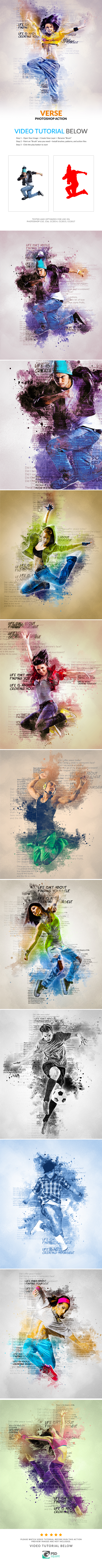 Verse Photoshop Action - Photo Effects Actions