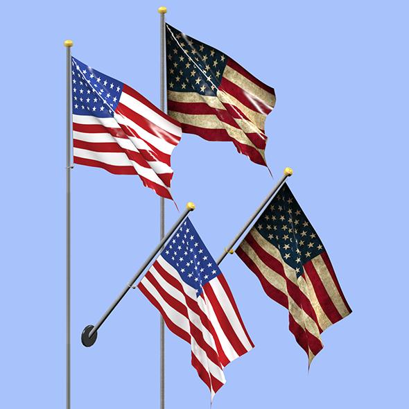 Usa Flag - 3DOcean Item for Sale