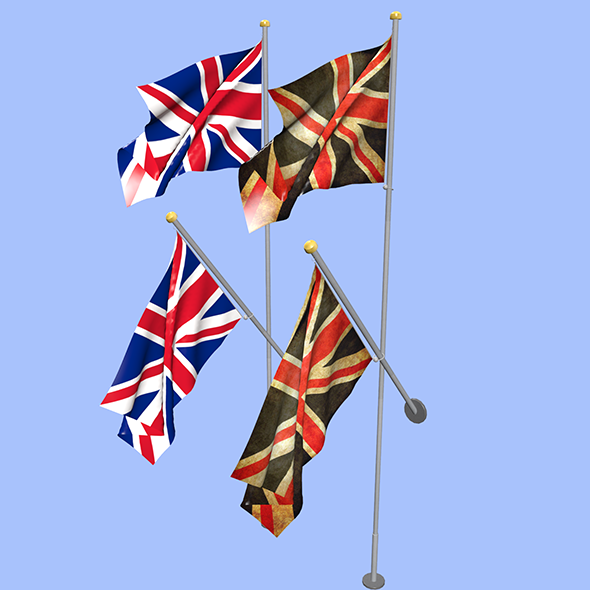 United Kingdom Uk Flag - 3DOcean Item for Sale