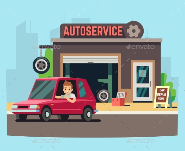 Car Service Station or Repair Garage - Services Commercial / Shopping