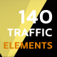 140 Traffic Icons and Elements - VideoHive Item for Sale