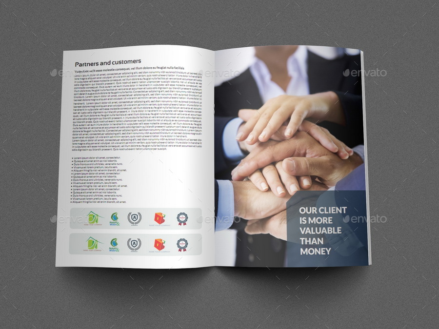 Company Profile Brochure Template Vol5 16 Pages By Owpictures