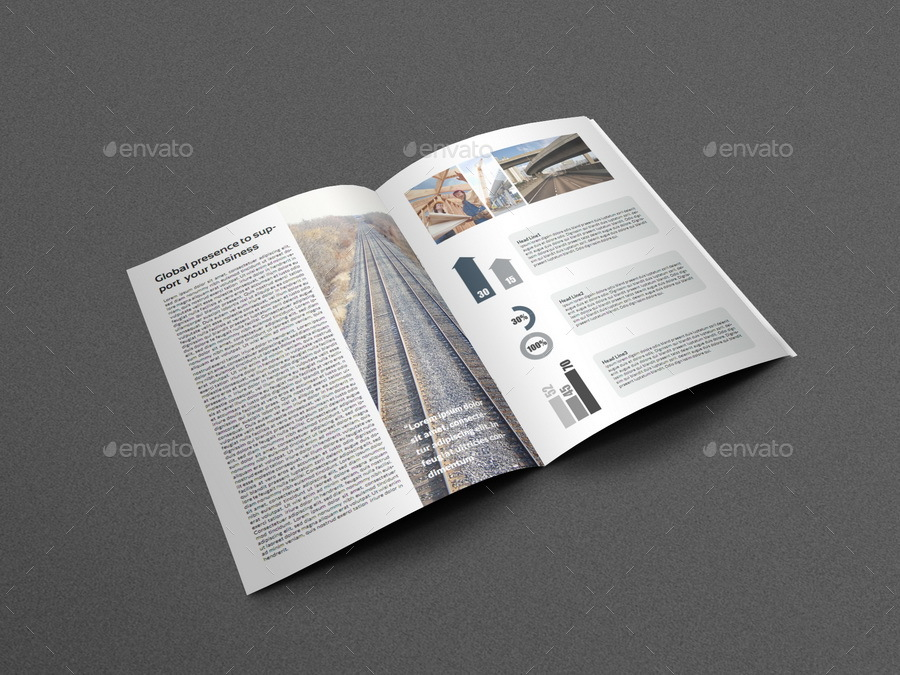 brochure templates envato - company profile brochure template vol 5 16 pages by