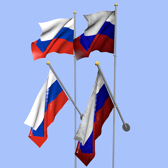 Russia Flag - 3DOcean Item for Sale