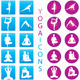 Yoga Icons - Illustration Set - GraphicRiver Item for Sale