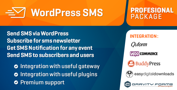 WP SMS Professional Package - CodeCanyon Item for Sale