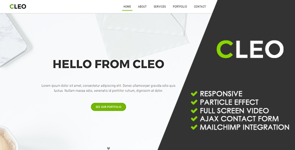 Cleo | Creative Multipurpose Template - Creative Site Templates