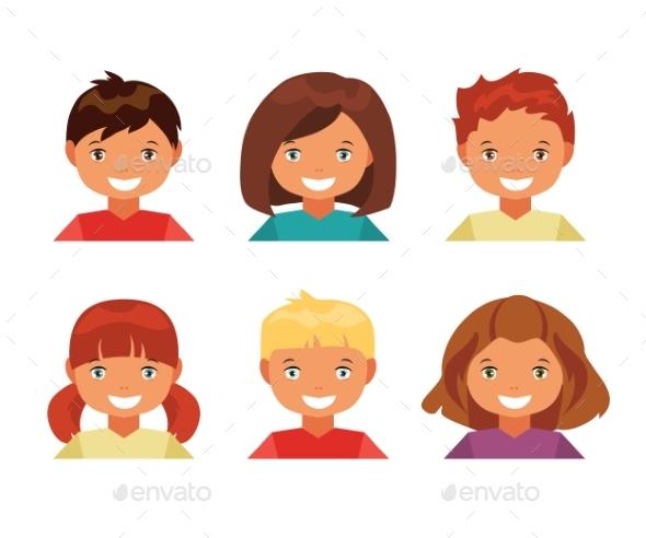 Children Avatars - People Characters