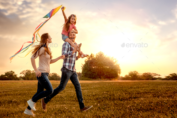 carefree family - Stock Photo - Images