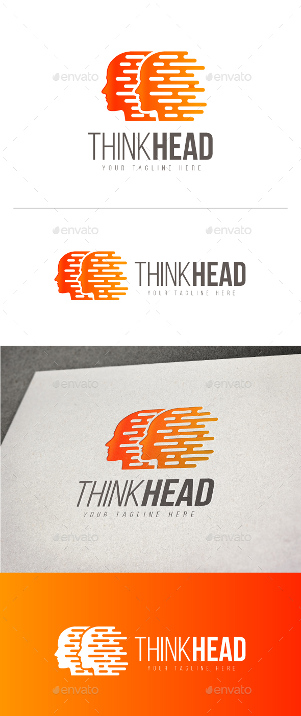 Think Head Logo - Humans Logo Templates