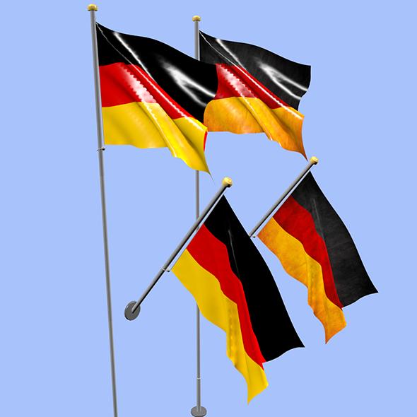 Germany Flag - 3DOcean Item for Sale