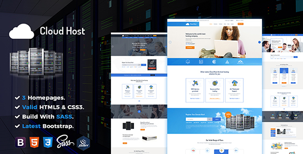Cloud Host – Responsive Domain & Hosting HTML5 Template
