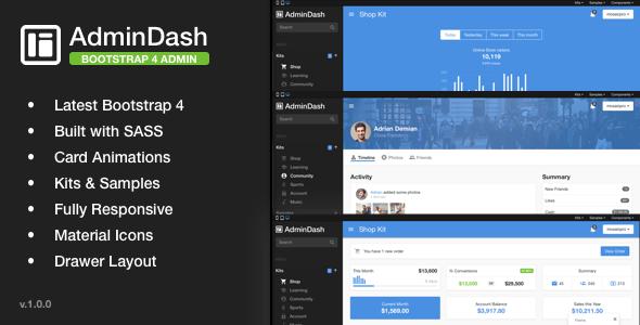 AdminDash – Bootstrap Admin Template