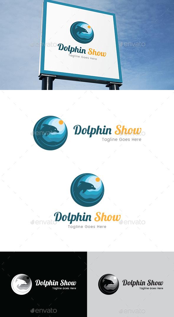 Dolphin Show Logo Template - Animals Logo Templates