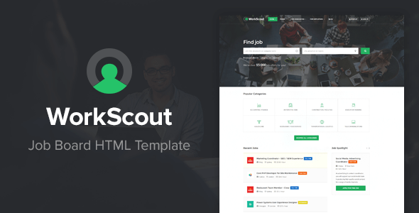 WorkScout - Job Board HTML Template