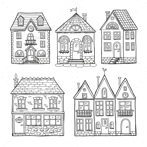 Doodle Houses - Buildings Objects