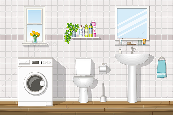 Illustration of a Bathroom - Miscellaneous Vectors