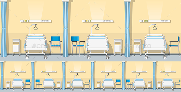 Illustration of a Sickroom, Seamless - Health/Medicine Conceptual