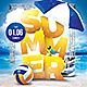 Summer Beach Parties Flyer - GraphicRiver Item for Sale