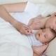 Mom and Son Newborn Sleeping
