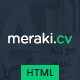 Meraki One Page Resume HTML Template - ThemeForest Item for Sale