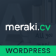 Meraki One Page Resume WordPress Theme Nulled