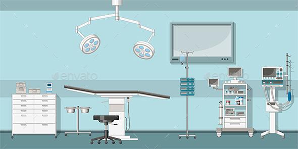 Illustration of a Operating Room - Health/Medicine Conceptual