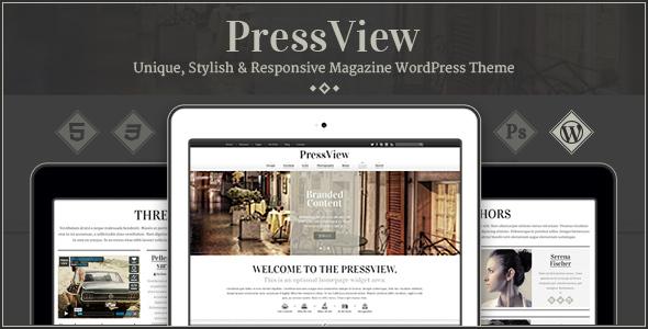 PressView - Vintage and Stylish WordPress Theme
